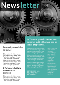 corporate newsletter mechanical wheel backgro A4 template