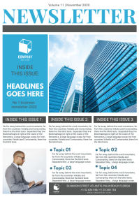 Corporate Newsletter Page Custom Template A4