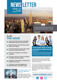 Corporate Newsletter Template A4