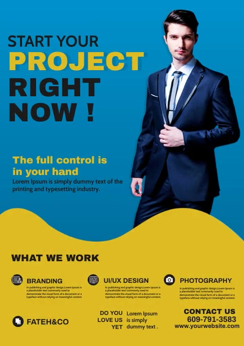 Corporate Poster Design A4 template