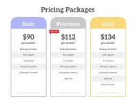 Corporate Pricing List Packages Flyer Design template