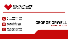 corporate red and black business card Visitekaartje template