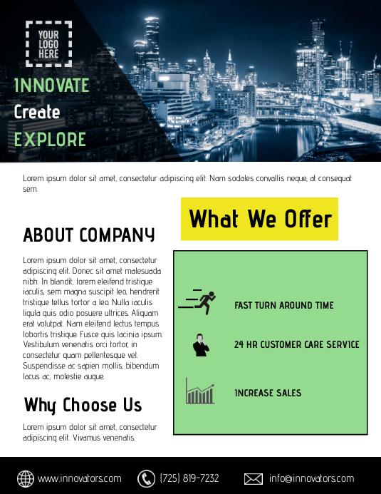 Corporate Service Flyer template