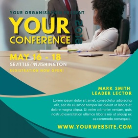 Corporation Business Conference Square Video Template