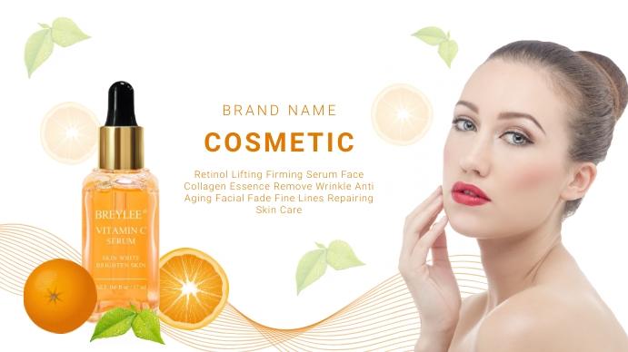 Cosmetic banner design Digitale display (16:9) template