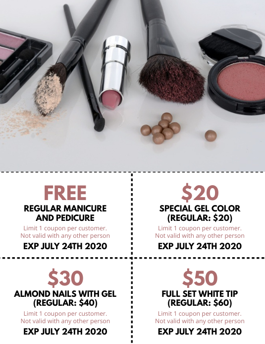 Cosmetic Coupon Flyer