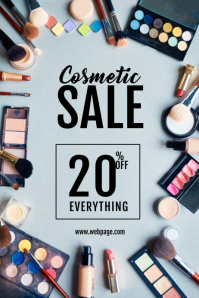 Cosmetic make up Sale flyer template Poster