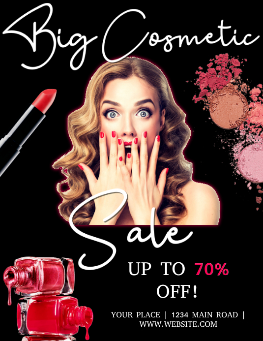 Cosmetic Sale Event Flyer Template