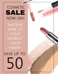 Cosmetic Sale Flyer Template