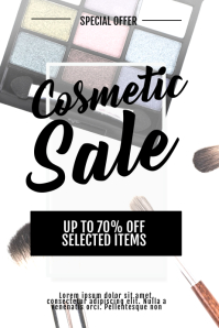 Cosmetic Sale Flyer Template Poster