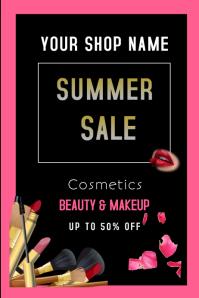 Cosmetic sales Cartaz template