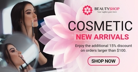 Cosmetic Store Discount Facebook Shop Cover template