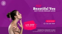Cosmetic Surgery Beauty Clinic Video Ad Digitale Vertoning (16:9) template