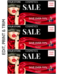 COSMETICS Flyer (US-Letter) template