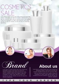 cosmetics sale A4 template