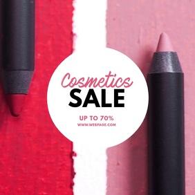 Cosmetics Sale Video Ad template