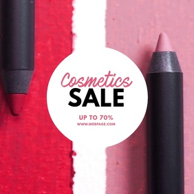 Cosmetics Sale Video Ad template