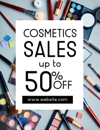 cosmetics sales event flyer