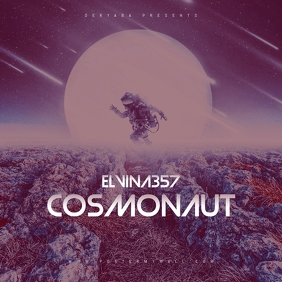 Cosmonaut Mixtape CD Cover Art Template