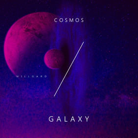Cosmos Galaxy CD Cover Template