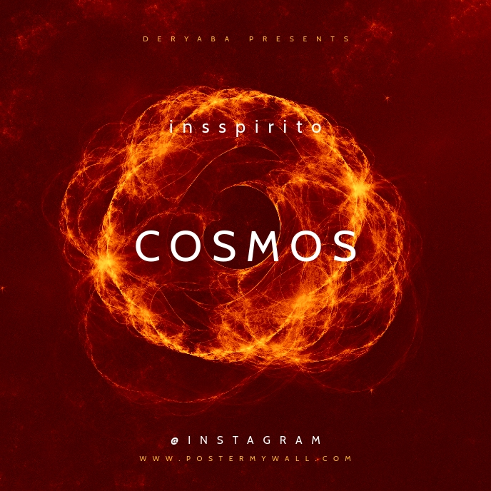 Cosmos Space CD Cover Template