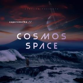 Cosmos Space Mixtape Cover ปกอัลบั้ม template