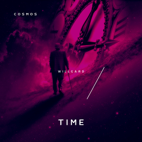 Cosmos Time Galaxy CD Cover Template