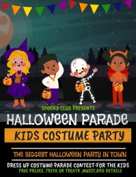 Costume party ,Halloween flyer, event flyer template