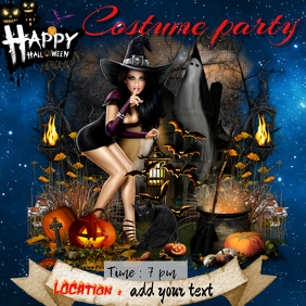 costume party Instagram 帖子 template