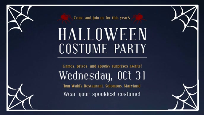 Costume Party Halloween Facebook Cover Video