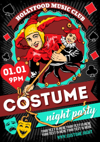 COSTUME PARTY POSTER A4 template