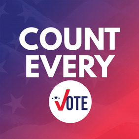 Count Every Vote Publicação no Instagram template