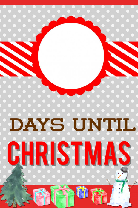 Countdown To Christmas.Countdown Christmas Template Postermywall
