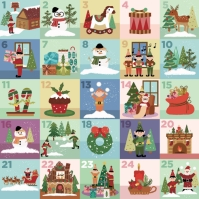Countdown Days to Christmas Advent Calendar Logotyp template