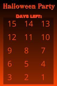 Countdown Halloween 15 days simple