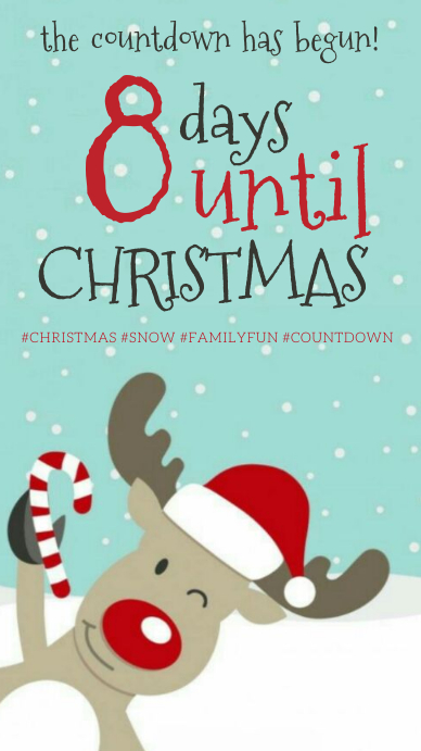 countdown to christmas design template Instagram Story