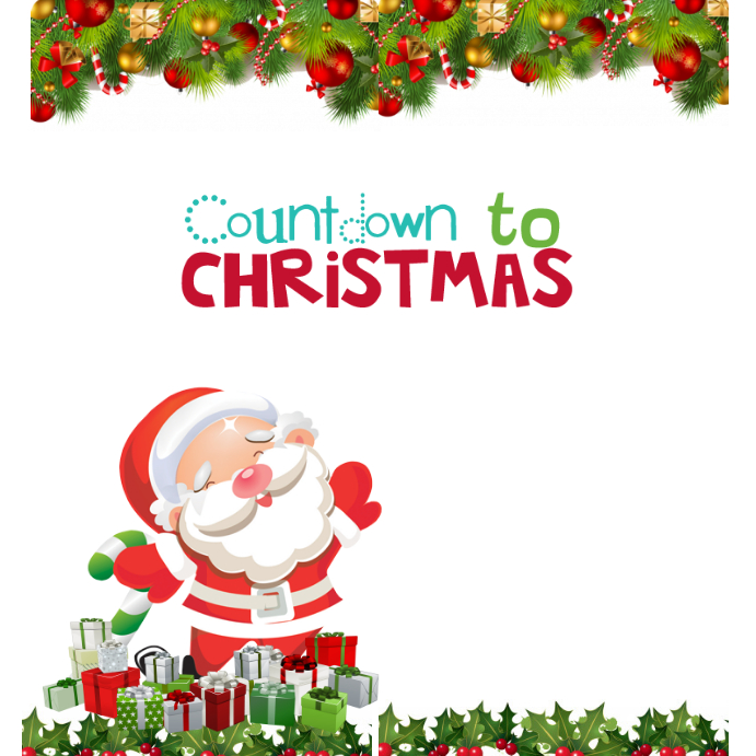 Countdown To Christmas.Countdown To Christmas Template Postermywall