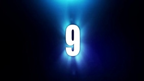 countdown video poster template
