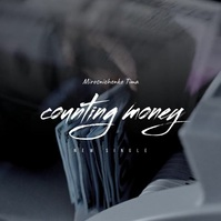 Counting Money Video Mixtape CD Cover Square (1:1) template