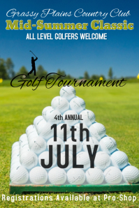 country club golf tournament poster
