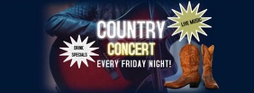 COUNTRY CONCERT Facebook 封面图片 template