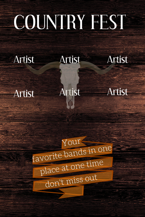 Country Fest Plakkaat template