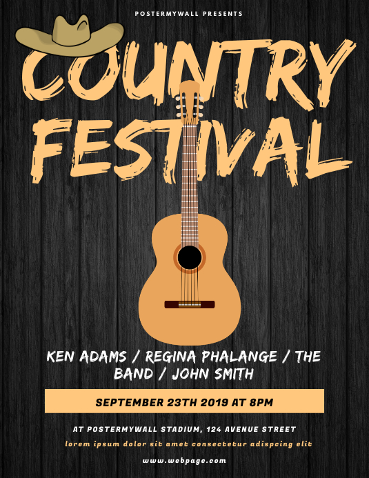 Country Festival Flyer Template