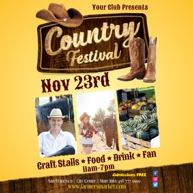 Country Festival Poster
