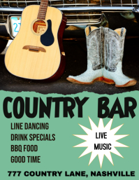COUNTRY LINE DANCING COUNTRY MUSIC BAR Folder (US Letter) template