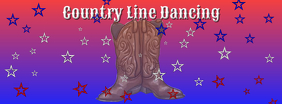 Country Line Dancing FB Cover template