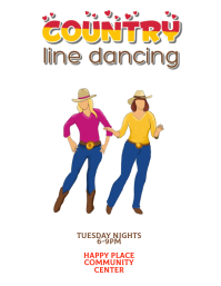 country line dancing Flyer template