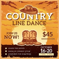 Country Line Dancing Show Wild West Instagram Wpis na Instagrama template