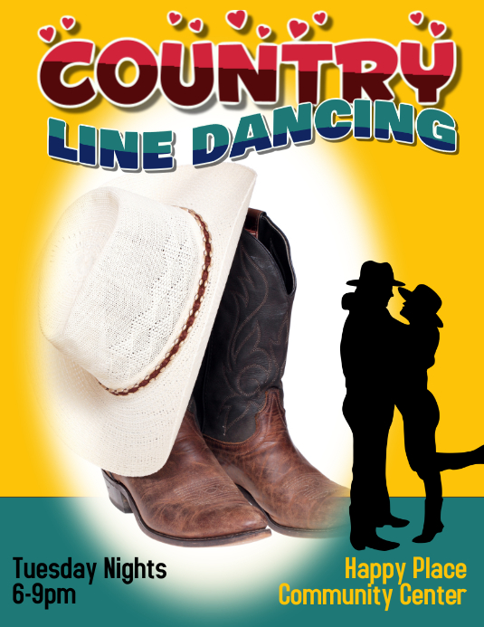 country line dancing template