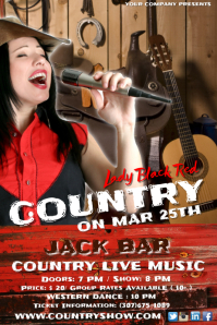 Country Live Music Event Poster